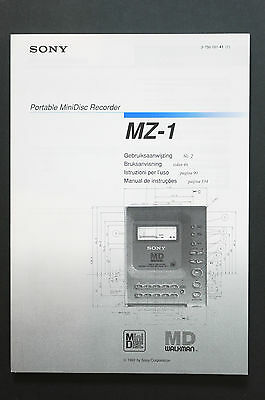 SONY MZ-1 MD WALKMAN Original Bedienungsanleitung/User Manual Top-Zust.!