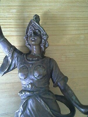 Large Antique Spelter Figure Victorian For  Project