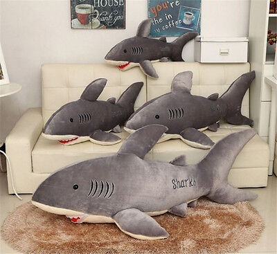 75/95/120cm Lovely Big Shark Soft Plush Toy Dolls Stuffed Animal Pillow Cushion