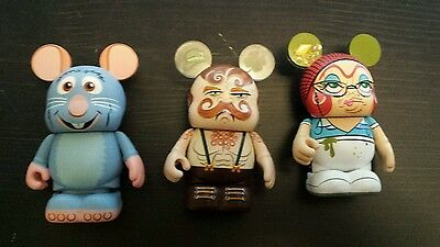 Lot of 3 Vinylmation  Remy, Ratatouille, High school Lunch lady 3 inch