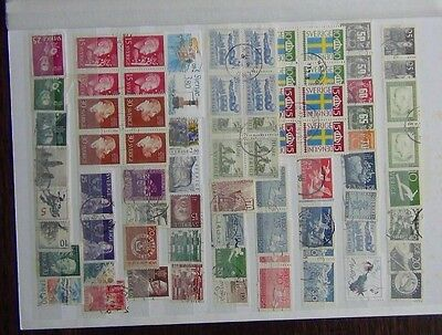 Sweden Useful commemorative issues 1955 Flag Day Block x 4 other blocks pairs U