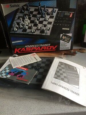 Pre-owned KASPAROV Turbo Advanced Chess Trainer with Risc Style Processor Saitek