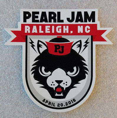 Pearl Jam Raleigh NC 2016 sticker new HB2 Eddie Vedder. not poster pin ticket cd