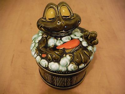 Vintage Soap Dish, Frog In Bubble Bath, Very Cute, Woolworth, Woolco