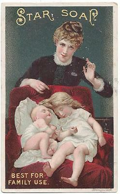 "Star Soap - Trade Card - ""Hush"" Picture - Schultz & Co. - J. Ottmann Lith Co. NY"