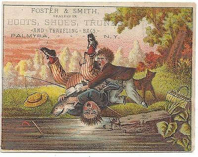 Foster & Smith - Boots, Shoes, Trunks - Trade Card - Palmyra, NY