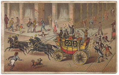 Gold Soap Trade Card - Schultz & Co. Zanesville, OH Mayer, Merkel, Ottmann Lith