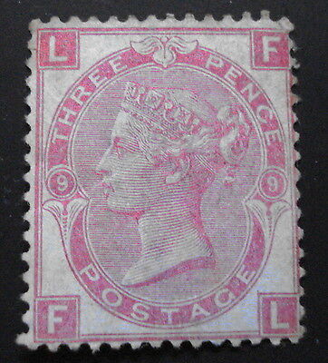 3d QUEEN VICTORIA STAMP, SPRAY OF ROSE,PLATE 9, 1872,SG103