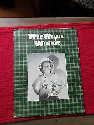 Shirley Temple Wee Willie Winkie Movie Premiere Program 1937 Signed As Child HTF