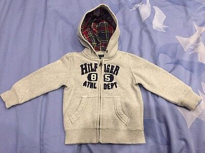 Baby Boys Tommy Hilfiger Zip Up Hooded Top