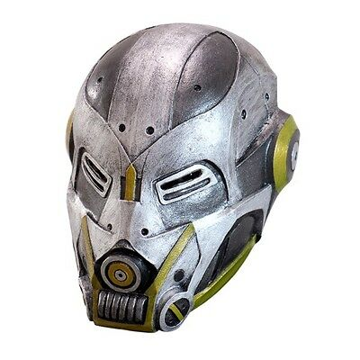 High-Tech Duty Robot Adult Latex Mask Steampunk Cosplay Cyborg Sci Fi Accessory