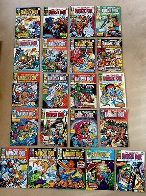 21 x Vintage UK Marvel Comics ~ FANTASTIC FOUR 1977 & 1978