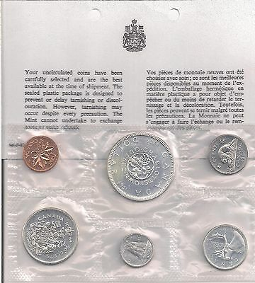 Canada 1964 Proof Like Coin Set In Envelope 1.1 OZ Pure Silver.
