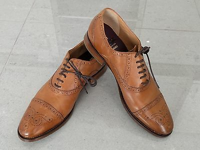 Mens Brand New Marks & Spencers Luxury Tan Brown Leather Shoes Size 9.5