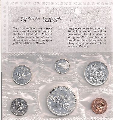 Canada 1965 Proof Like Coin Set In Envelope 1.1 OZ Pure Silver.