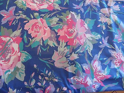"Laura Ashley Vintage Floral Dress Fabric 51"" length x 57"" wide"