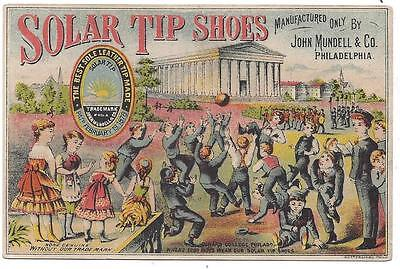 Solar Tip Shoes - Trade Card - Childs, Smith & Co., Worcester - Ketterlinus Lith