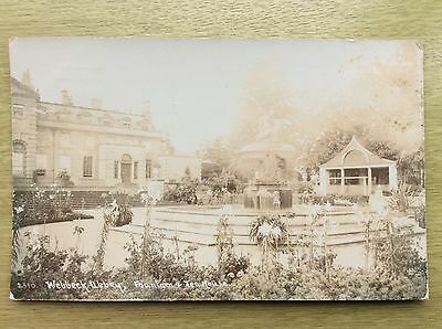 Welbeck Abbey ~ FOUNTAIN and TEA HOUSE ~ posted 1918 RP