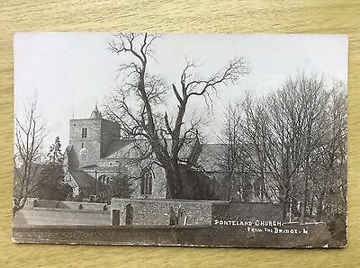 PONTELAND Church from the BRIDGE ~ posted 1909 RP
