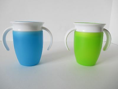 Munchkin Miracle 360 Trainer Cup Green Blue 7 Ounce 2 Count Unused Without Box