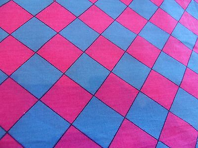 "Laura Ashley Vintage Pink/Blue Dress Fabric 40"" length x 45"" wide"