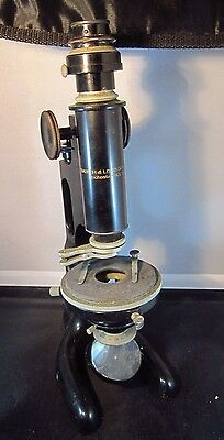Antique Bausch & Lomb Microscope In Original Wooden Box