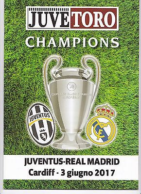 2017 CHAMPIONS LEAGUE FINAL Juventus v Real Madrid (RARE OFFICIAL ''JUVE-TORO'')