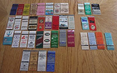 39 Matchbooks (No Matches)  For Restautants, Cafeteria And Cafe