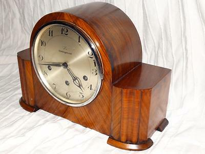 Vintage Westminster Chiming Mantle Clock,art Deco Rosewood Case,german Movement.