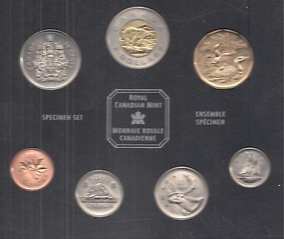 Canada 2002 Specimen Set - 7 Coins. Family of Loons.