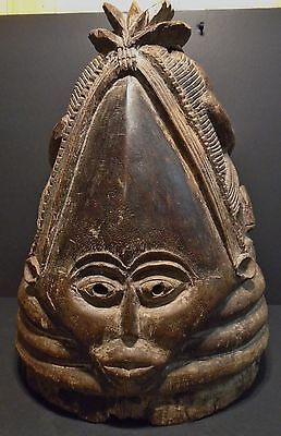 "African Mende Ceremonial Female Circumcision Mask C 1890-17"" tall-Museum Quality"