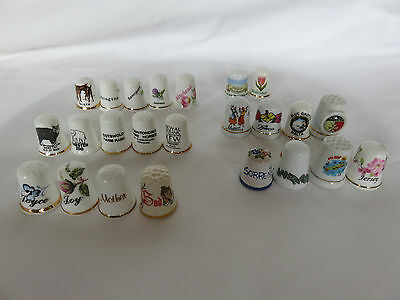 Collection of 24 Thimbles mostly Places and Names, in good used condition.