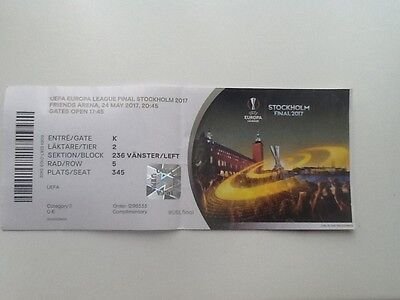 Ajax Amsterdam v Manchester United Europa League Final 2017 TICKET
