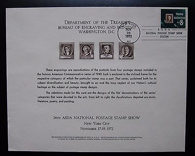 Bep 24Th Asda National Postage Stamp Show Card Cancelled Second Day