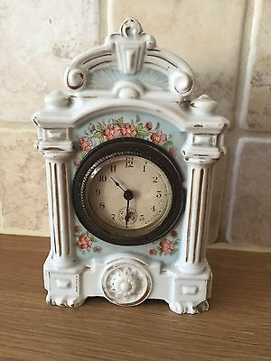Antique Porcelain China Mantle Clock - Not Working