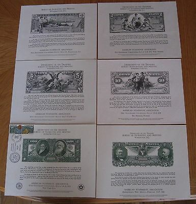 6 Bep Cards Ana 1971,1972,1973,1974,1976 Cancelled,1980 Silver Certificates