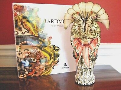 NWT $3.7K ARDMORE CERAMIC Leopard VASE Art Deco  FINE CERAMIC ART Original SALE!