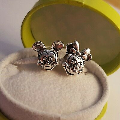 Disney Mickey & Minnie mouse charm twin pack - PANDORA S925 ALE stamped