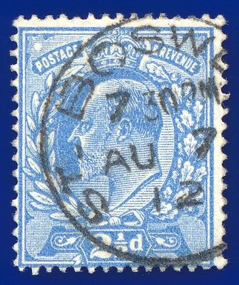 1911 SG283 2½d Bright Blue M18(2) Fine Used St Boswells CDS c.£15 acuf