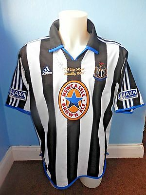 Rare Newcastle United Match Worn Fa Cup Final 1999 Shirt Signed By Rob Lee