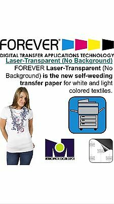 Laser Iron-On TRIM FREE Heat Transfer Paper, Light fabric FOREVER 10 sh 8.5x11