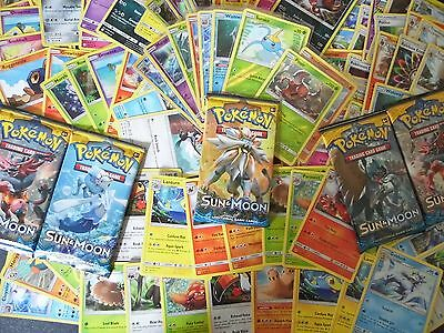 20 Pokemon Sun and Moon Card Bundle Booster Fresh  ( with. rare & reverse holo!)