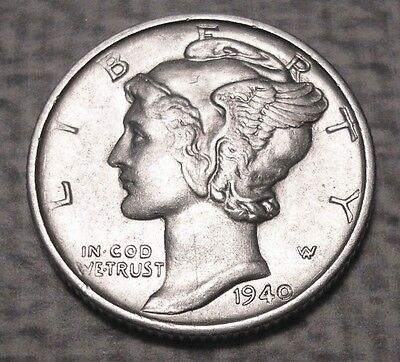 1940-S Mercury Silver Dime. Uncirculated. #10M632