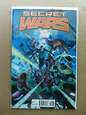 Secret Wars (2015) #1 Esad Ribic 1:25 Variant Cover First Printing Near Mint