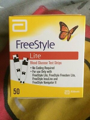 Freestyle Lite Blood Glucose Test Strips X50 Sealed Exp 04/2018