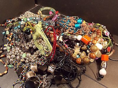 Job lot jewellery beads necklaces ect some new some old