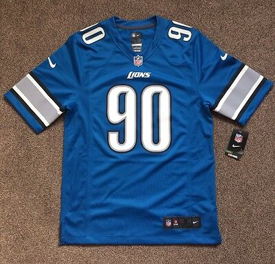 Nike NFL Detroit Lions On Field Jersey #90 Ndamukong Suh Small S