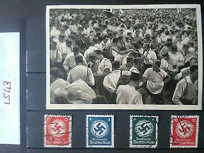 German Ww2 Photo/ Stamps Original Album Series Photo.