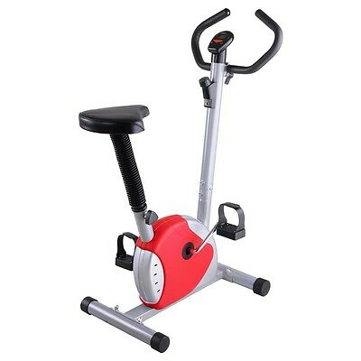 Exercise Bike Fintess Cycling Machine Cardio Aerobic Equipment Workout Gym Red