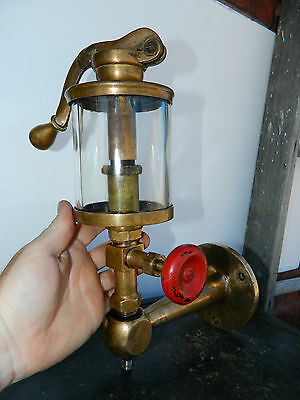 Vtg Essex Large Brass Pump Top Lubricator Oiler Gas Engine Corliss Steam Engine